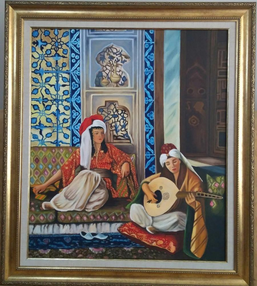 Music in Harem, Reproduction Paintings, , kanvas tablo, canvas print sales
