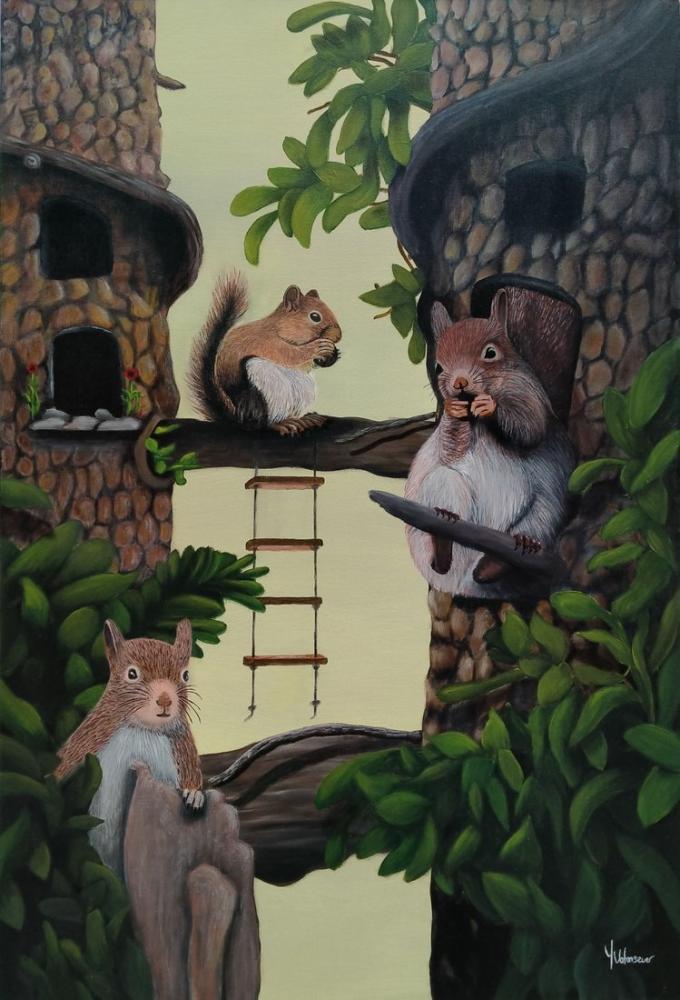 Tiny Family, Original Paintings, , kanvas tablo, canvas print sales