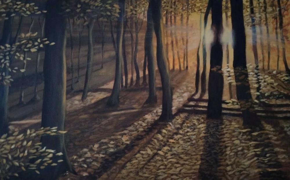 Sonbaharda, Orijinal Tablolar, , kanvas tablo, canvas print sales