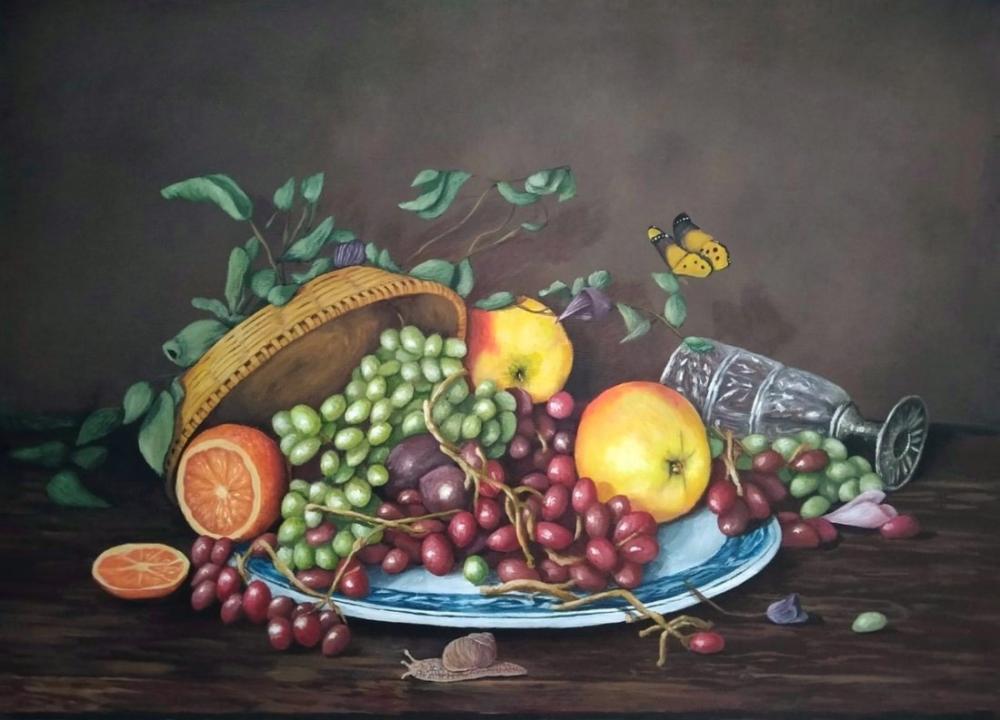 Untitled Still Life Painting, Original Paintings, , kanvas tablo, canvas print sales