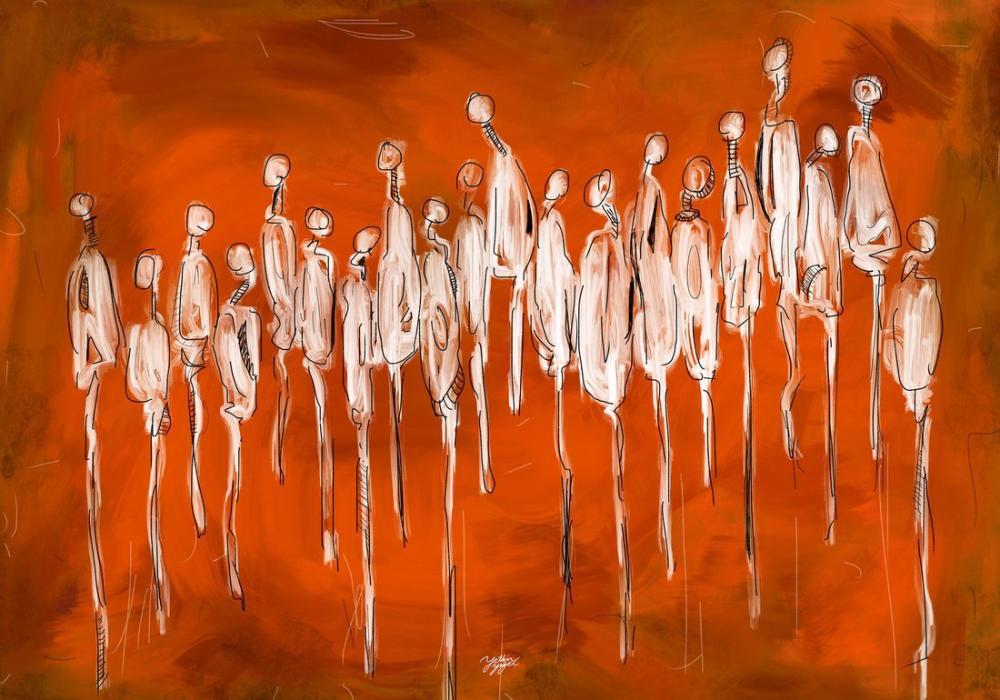 Orange Life, Original Paintings, , kanvas tablo, canvas print sales