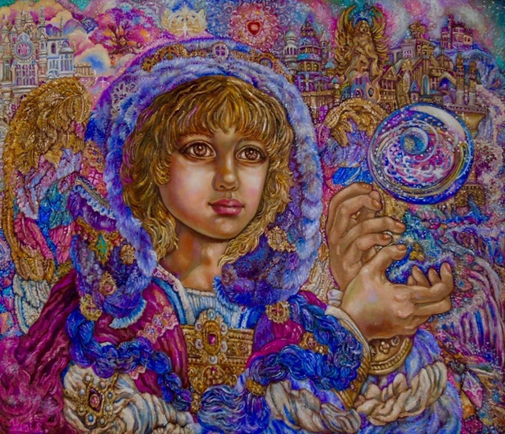Yumi Sugai. Archangel Jeremiel.poster., Original Paintings, , kanvas tablo, canvas print sales