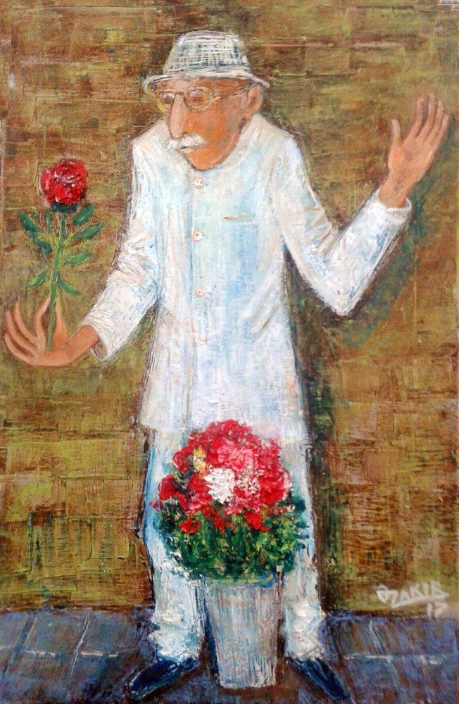 Flower seller, Orijinal Tablolar, , kanvas tablo, canvas print sales