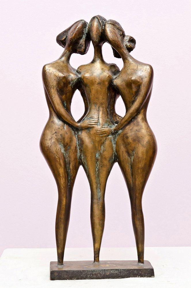Three Friends 1, Sculpt, , kanvas tablo, canvas print sales