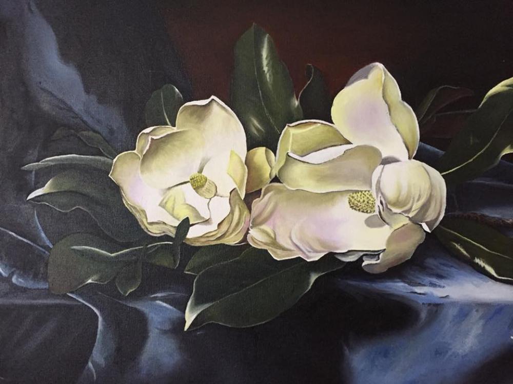 Magnolias, Original Paintings, , kanvas tablo, canvas print sales