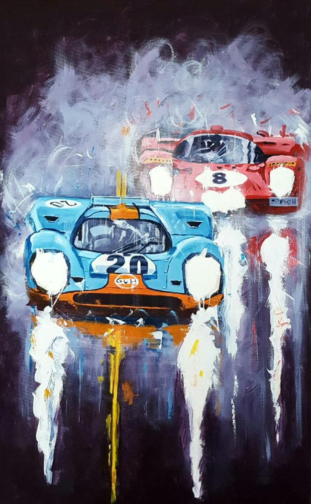 Automotive Art Klaus Wagger, Reproduction Paintings, , kanvas tablo, canvas print sales