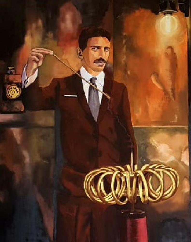 Nicola Tesla, Original Paintings, , kanvas tablo, canvas print sales