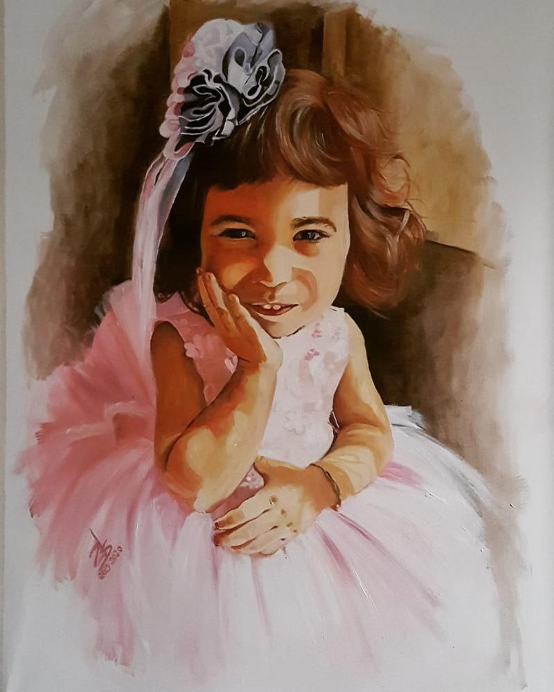 Annesinin Bir Tanesi Ece, Orijinal Tablolar, , kanvas tablo, canvas print sales