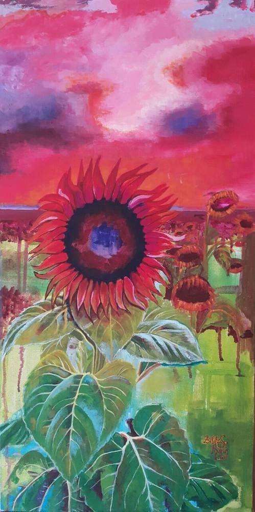 Sunflower, Zeliha Sayılı Küçük, Original Paintings,