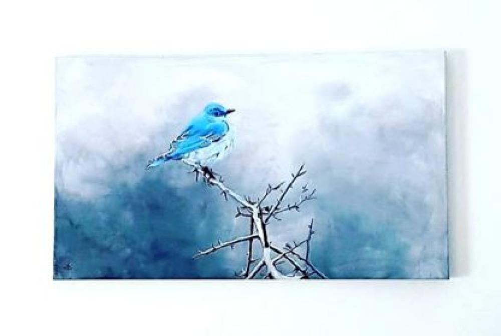 Arı Kuşu Maviş, Orijinal Tablolar, , kanvas tablo, canvas print sales