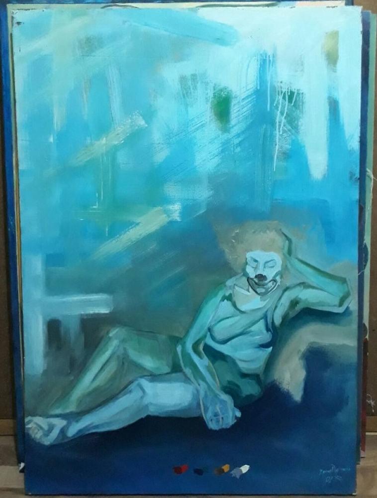 Clown, Original Paintings,  tablo kanvas canvas paintings