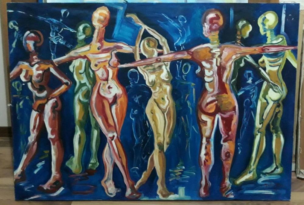 Dans 4, Orijinal Tablolar, , kanvas tablo, canvas print sales
