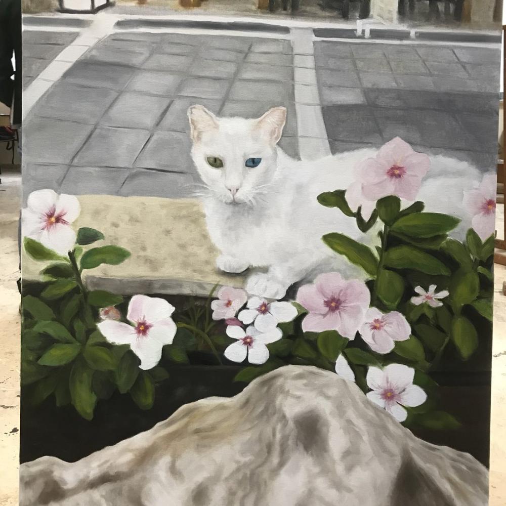 White Cat, Original Paintings,
