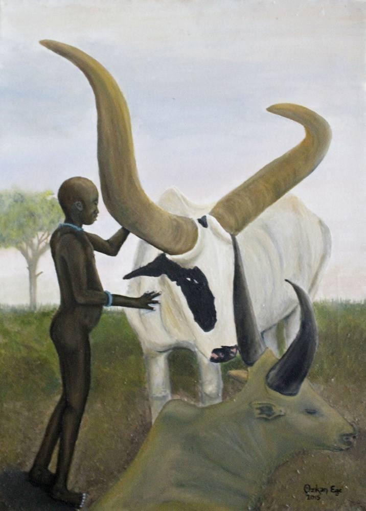 Afrikalı Çocuk, Orijinal Tablo,