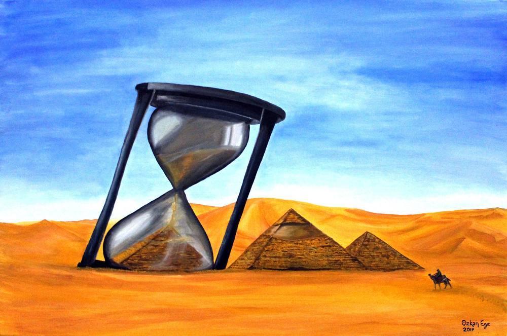 Pyramid Time, Original Paintings,