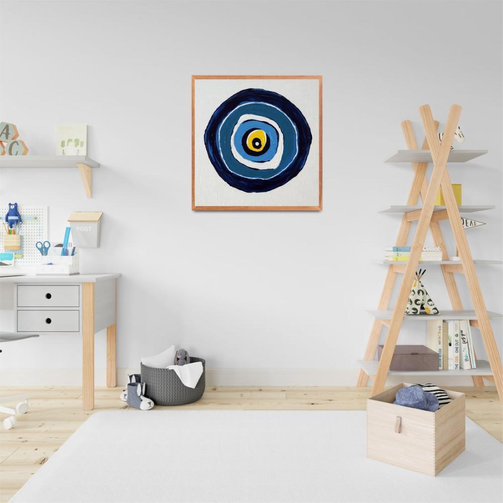 Blue Evil Eye Bead, Original Paintings, , kanvas tablo, canvas print sales