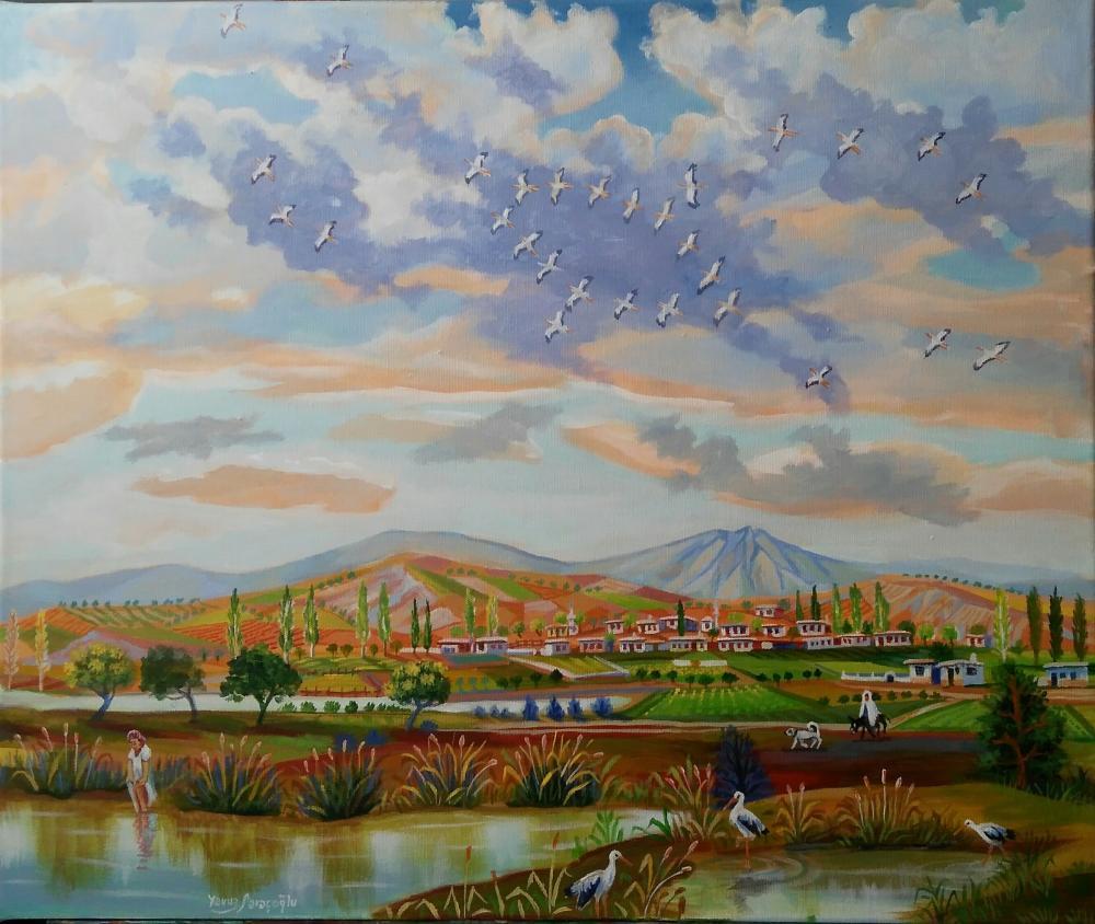 Migration of Storks, Yavuz Saraçoğlu